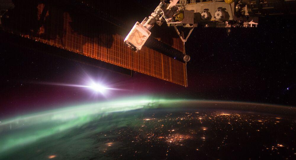 Aurore vue de l'ISS