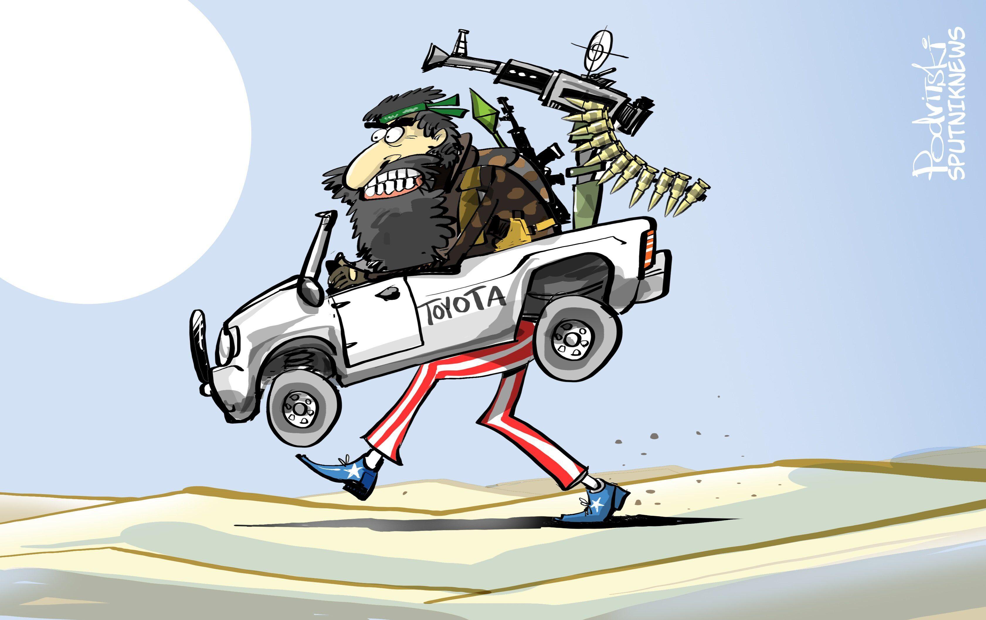 Toyotas US en Syrie? Ni vu, ni connu !