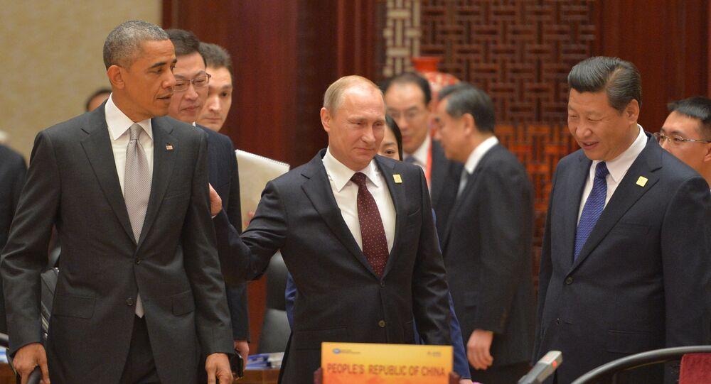 Barack Obama, Vladimir Poutine et Xi Jinping