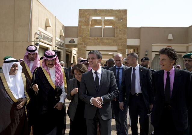 La délégation française en Arabie saoudite, 2015