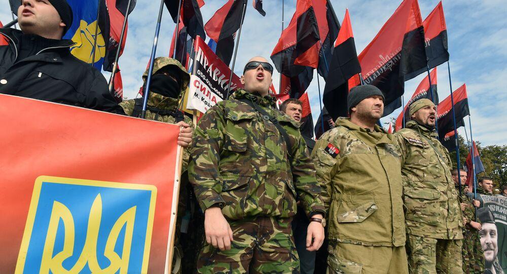 Ukraine: les nationalistes manifestent dans la capitale, Oct. 14, 2015