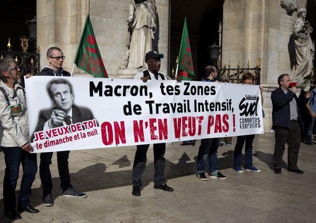 manifestation contre la loi Macron