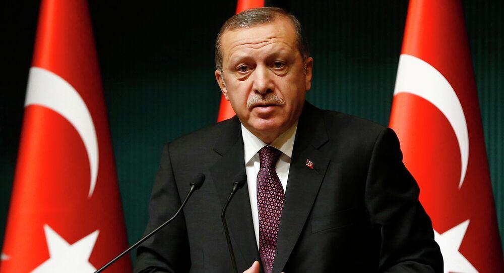Le président turc Tayyip Erdogan à Ankara