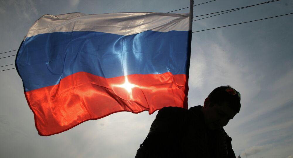 Un drapeau russe