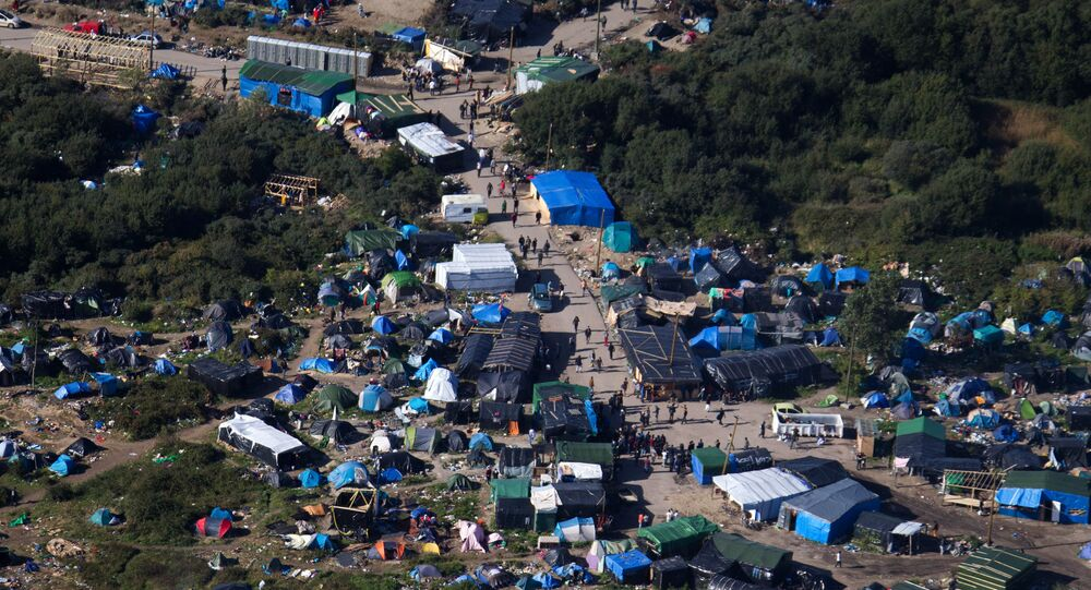 Camp près de Calais