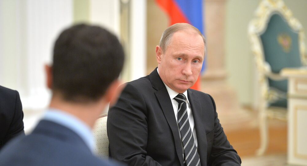 Bachar el-Assad et Vladimir Poutine