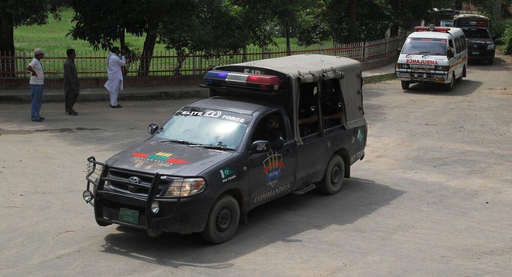Voiture de la police pakistanaise. Image d'illustration