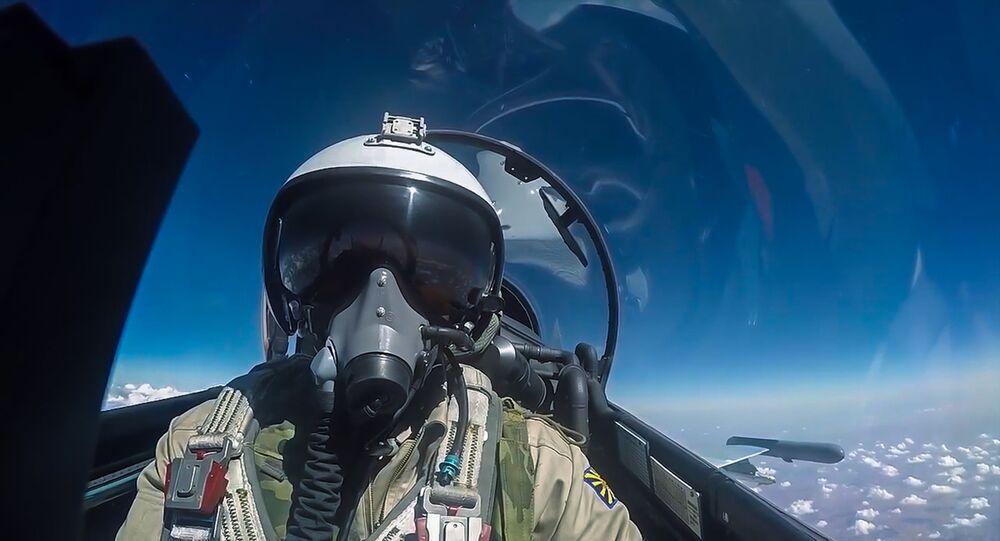 Pilote russe pendant une mission de combat en Syrie