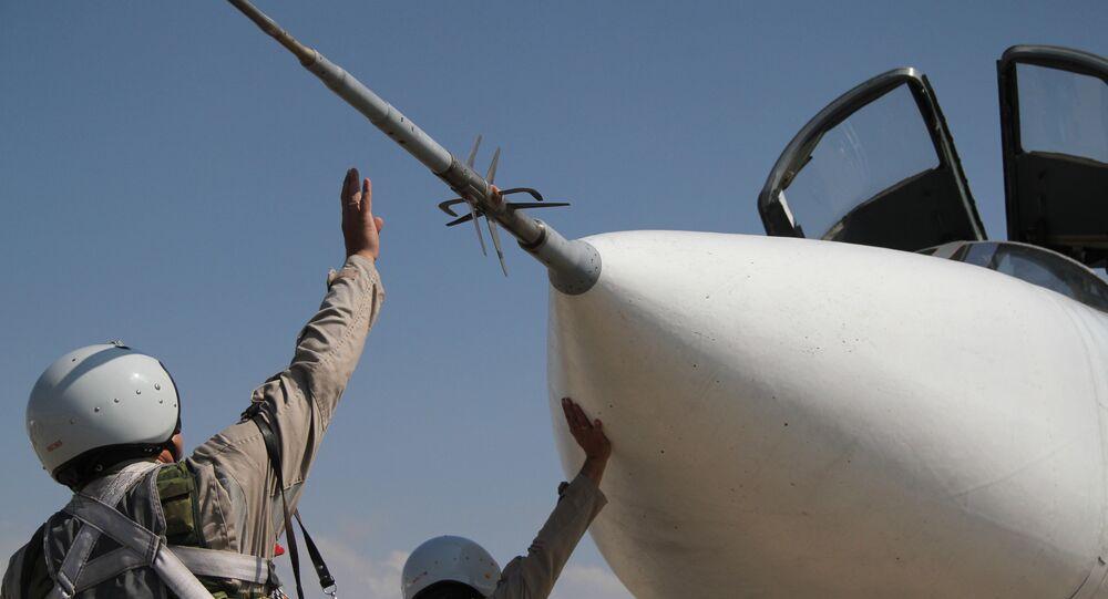 Un chasseur russe Su-24 déployé en Syrie