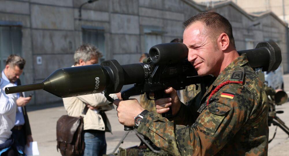 un membre de l'armée allemande