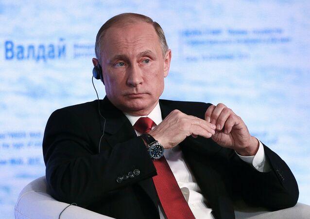 Vladimir Poutine lors de la 12e réunion du club de discussion international Valdaï