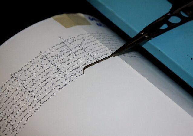 Un sismographe. Archive photo
