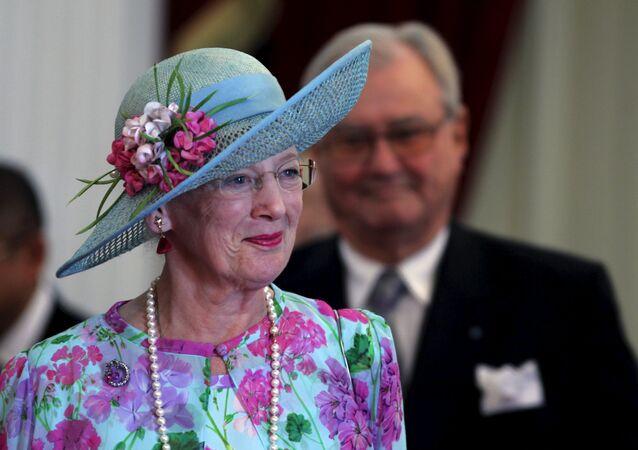 Margrethe II, reine souveraine de Danemark, et son Henri de Danemark, prince consort. Oct. 22, 2015.