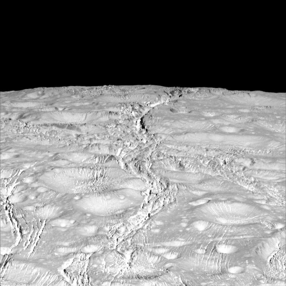 Encelade, une lune de Saturne