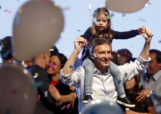 Le leader de l'opposition, le candidat à la présidentielle argentine, Mauricio Macri