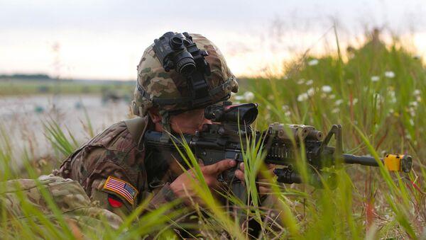 Soldats américains sur les manœuvres en Lettonie - Sputnik France