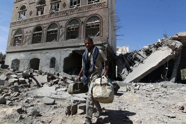 Yémen: villes après des frappes aériennes - Sputnik France