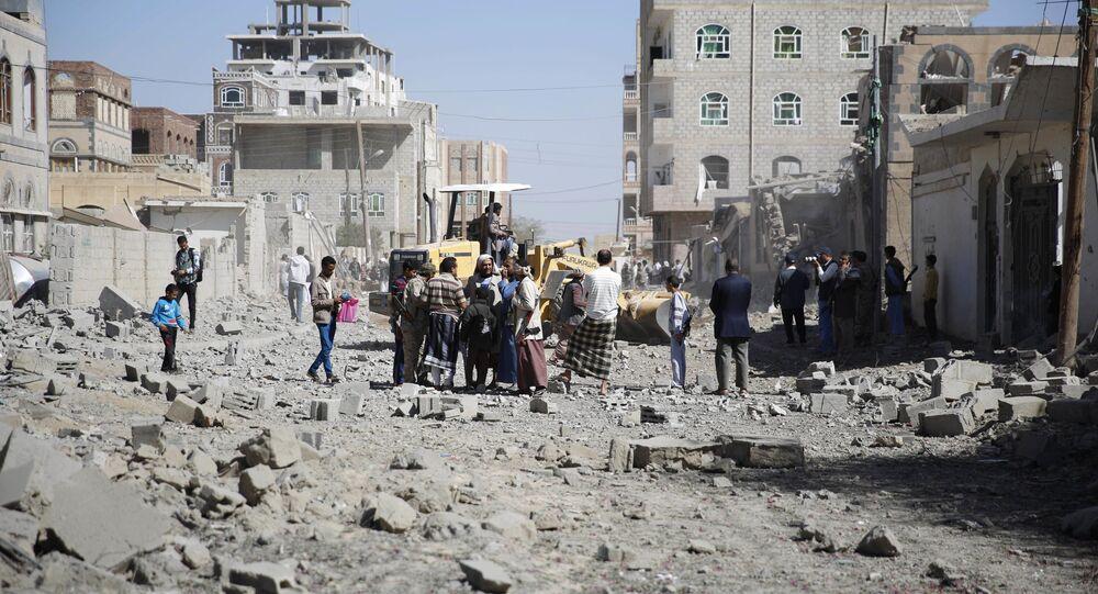 Maison détruites à Sanaa
