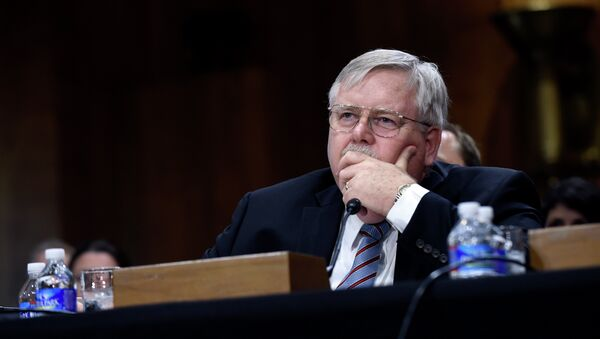 John Tefft of Va., pauses as he testifies before the Senate Foreign Relations Committee on Capitol Hill in Washington, Tuesday, July 29, 2014, to be the new U.S. Ambassador to Russia - Sputnik France