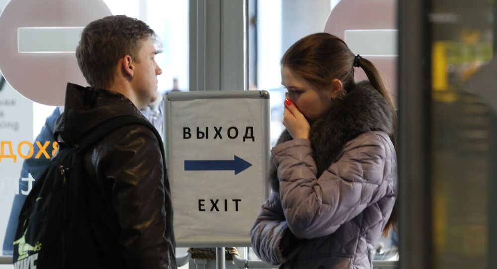 Les Russes sous le choc provoqué par le crash d'avion russe en Egypte, le 31 octobre 2015