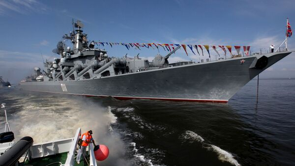 Le croiseur porte-missiles russe Variag - Sputnik France