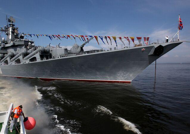 Le croiseur porte-missiles russe Variag