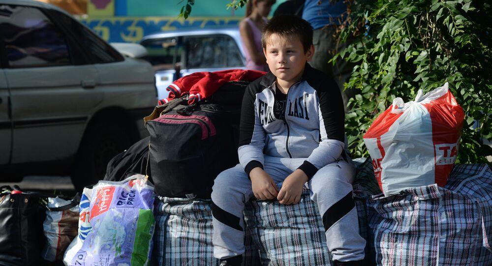 des réfugiés de Donetsk en Russie