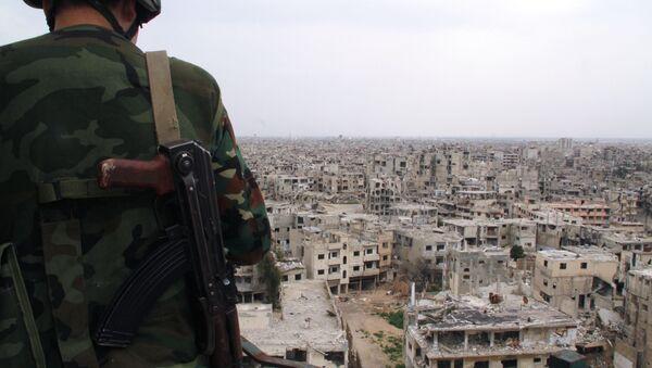 Soldat syrien à Homs, Syrie - Sputnik France