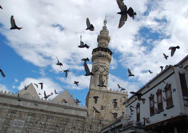 Minaret de la mosquée des Omeyyades, Damas