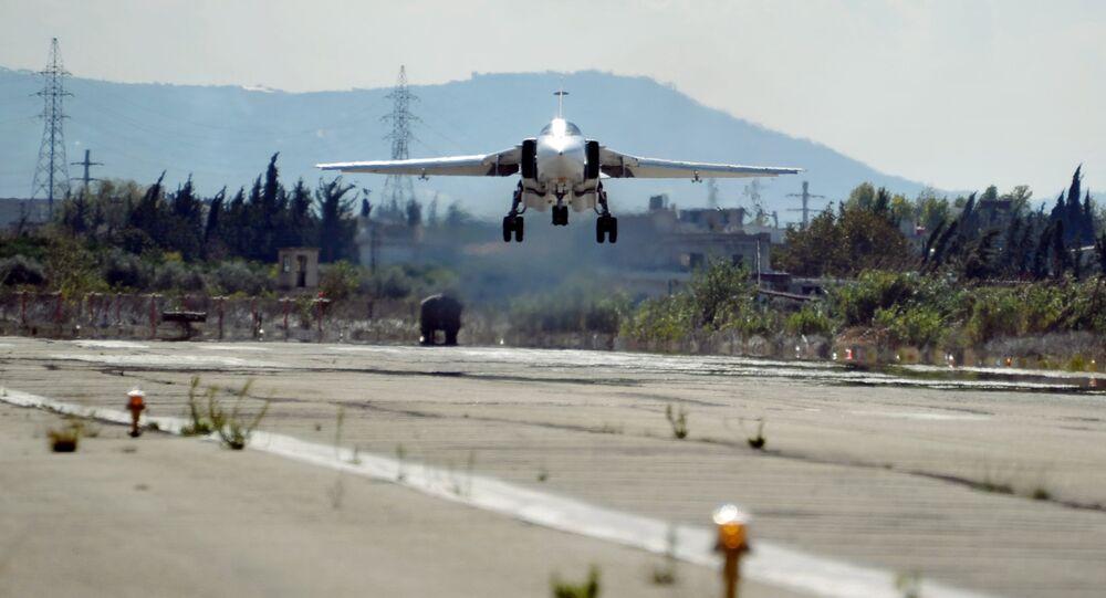 Un chasseur-bombardier russe Su-34 en Syrie