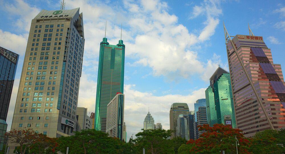 Quartier financier de Shenzhen, Chine