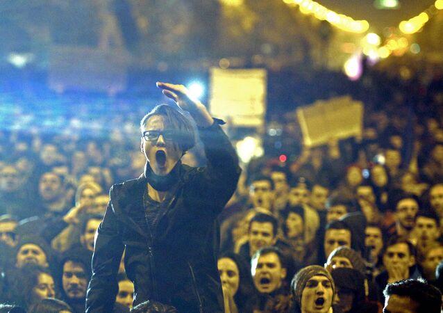 Manifestation en Roumanie, novembre 2015