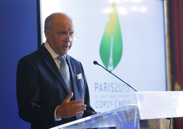 le chef de la diplomatie française Laurent Fabius