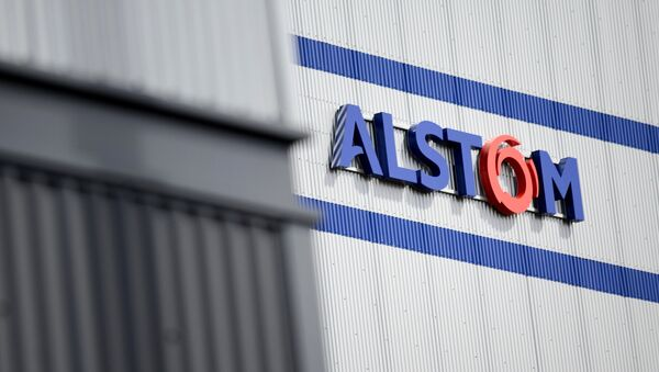 Le logo d'Alstom - Sputnik France