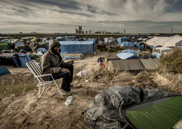 Camp de migrants jungle, Calais