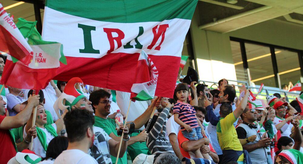 Les supporteurs de l'équipe de l'Iran
