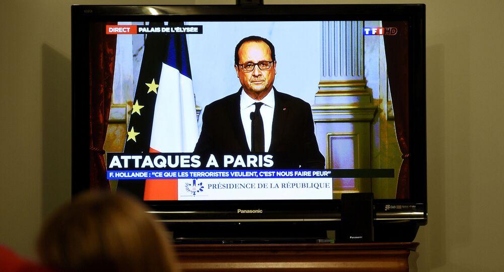 Françaois Hollande après les attaques à Paris