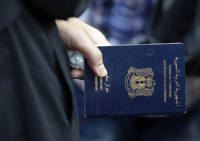 un passeport syrien