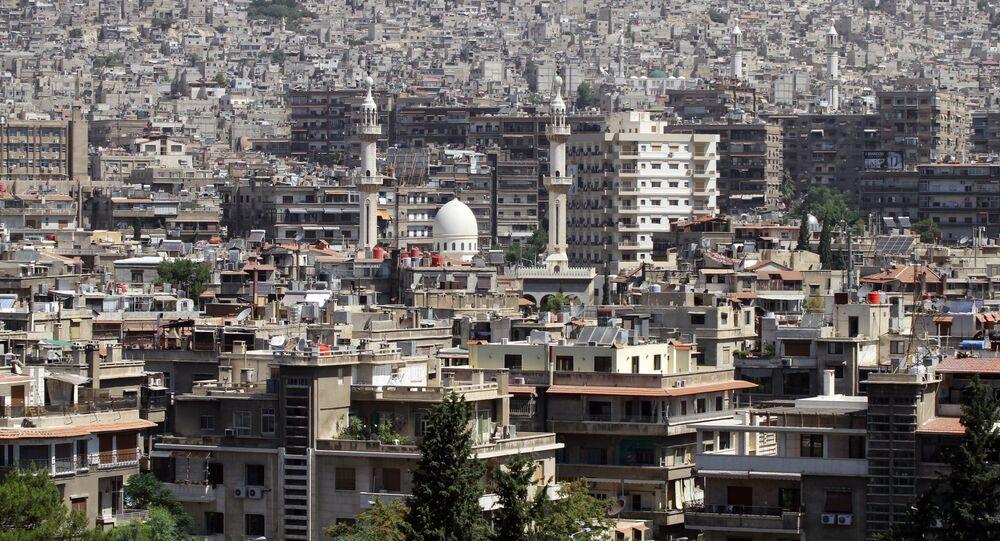 Vue générale de la capitale syrienne
