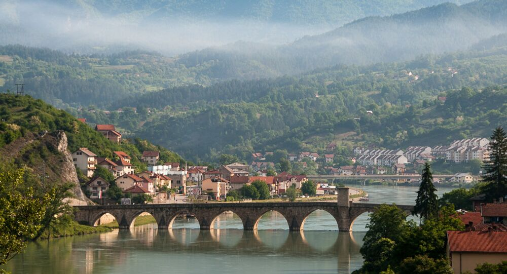La ville de Višegrad en Bosnie-Herzégovine, à l'est de la République serbe de Bosnie