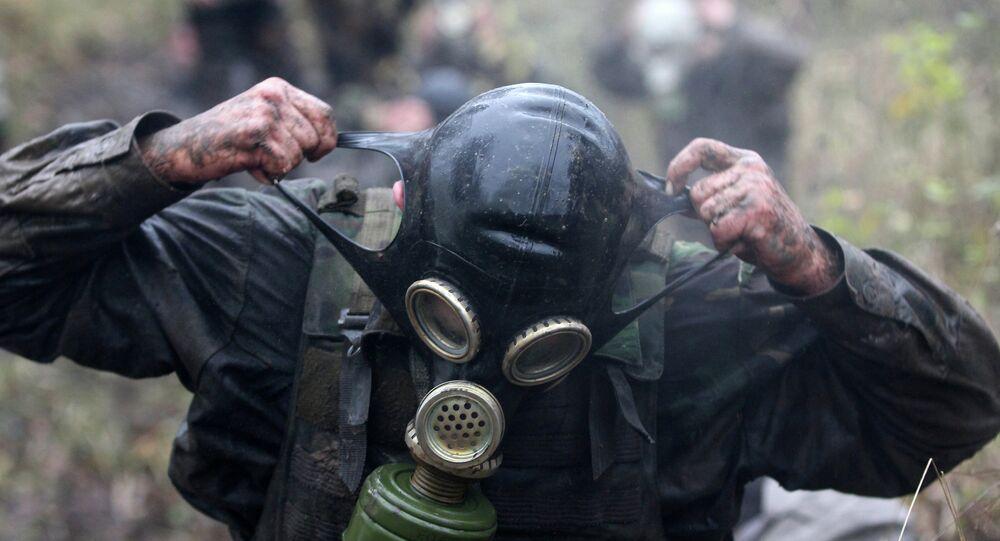 Masque à gaz. Image d'illustration