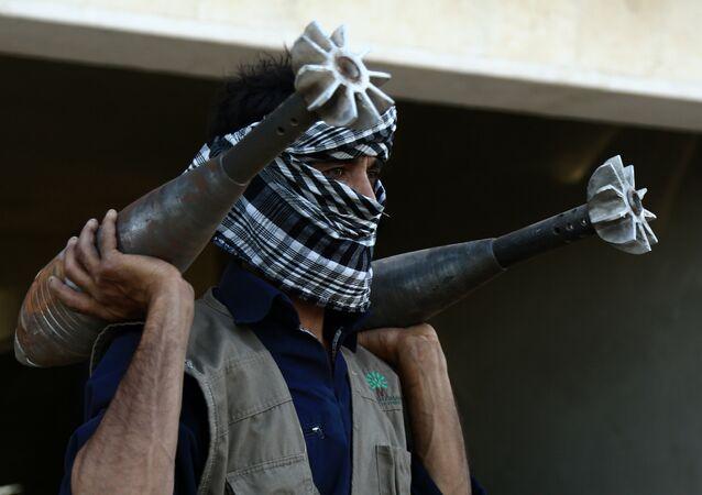 Un terroriste de l'Etat islamique à Raqqa