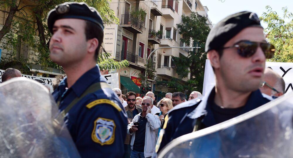 police grecque, image d'illustration
