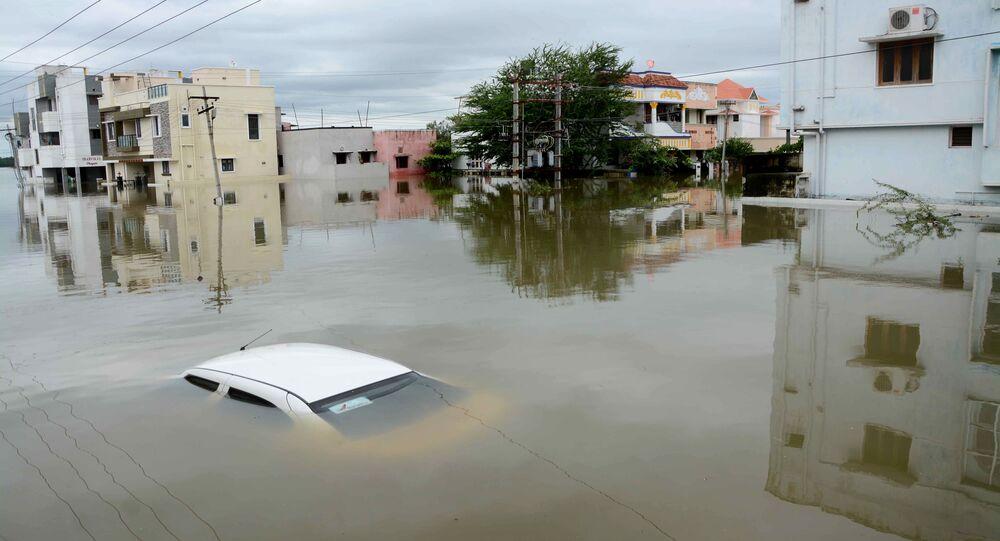 Inondation en Inde, Nov. 17, 2015.