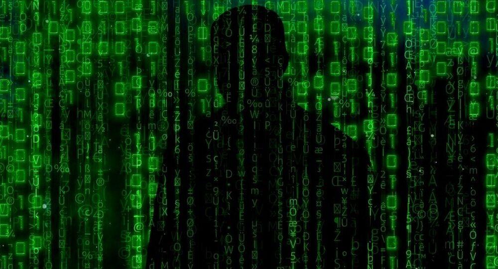 Extrémiste sur internet. Image d'illustration