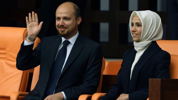 Bilal Erdogan et Sumeyye Erdogan. Archive photo - Sputnik France