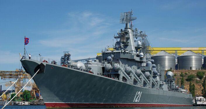 Le croiseur lance-engins Moskva