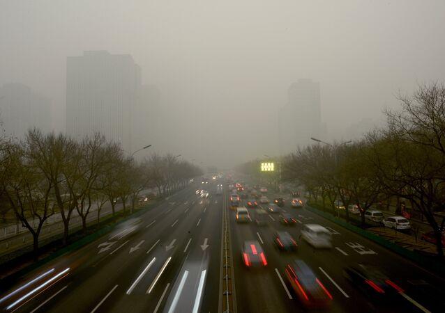 Pollution record à Pékin