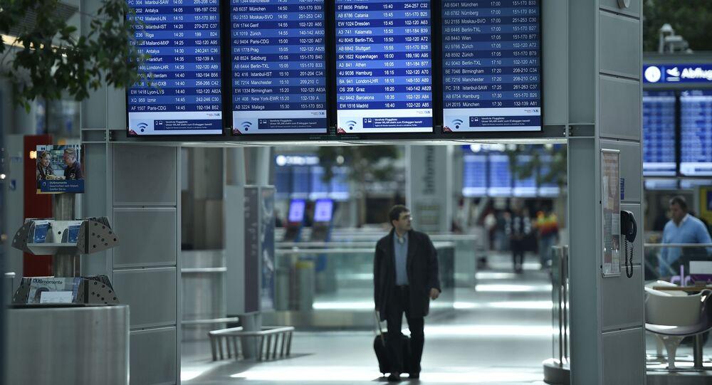 Aéroport international de Düsseldorf. Image d'illustration