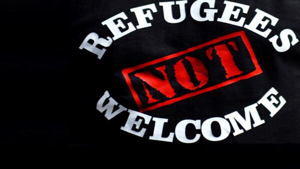 Une affiche contre l'immigration - Sputnik France